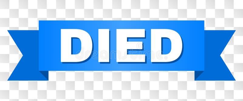 Listra azul com texto MORRIDO ilustração do vetor