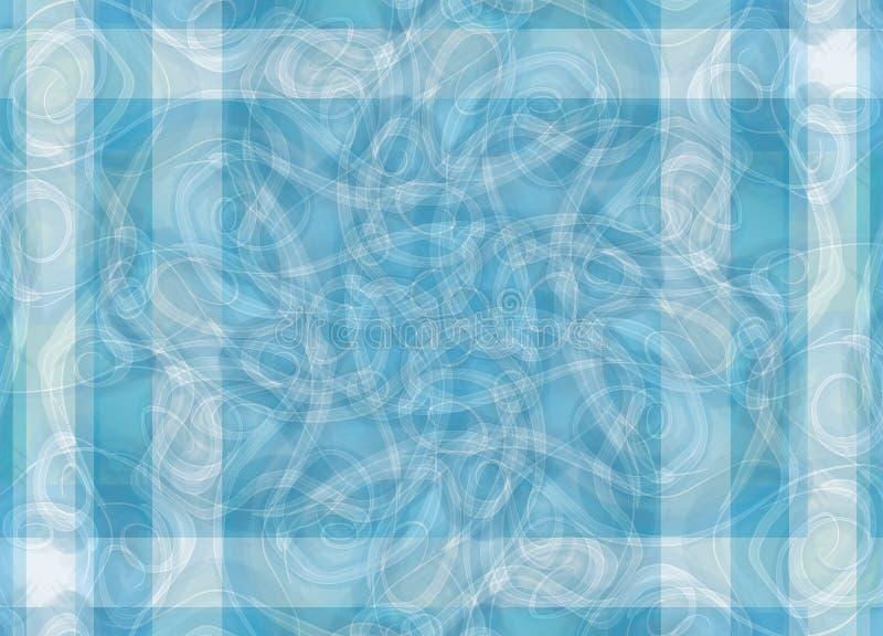 Listra azul dos testes padrões intricados ilustração stock