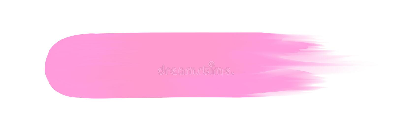 Listra cor-de-rosa pintada na aquarela no fundo branco limpo, cursos cor-de-rosa da escova da aquarela, delicado digital da escov ilustração stock