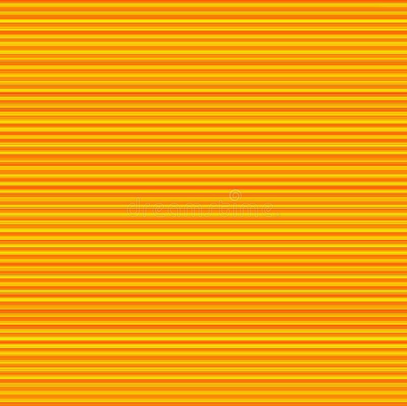 Listra larga alaranjada amarela Sunny Background ilustração stock