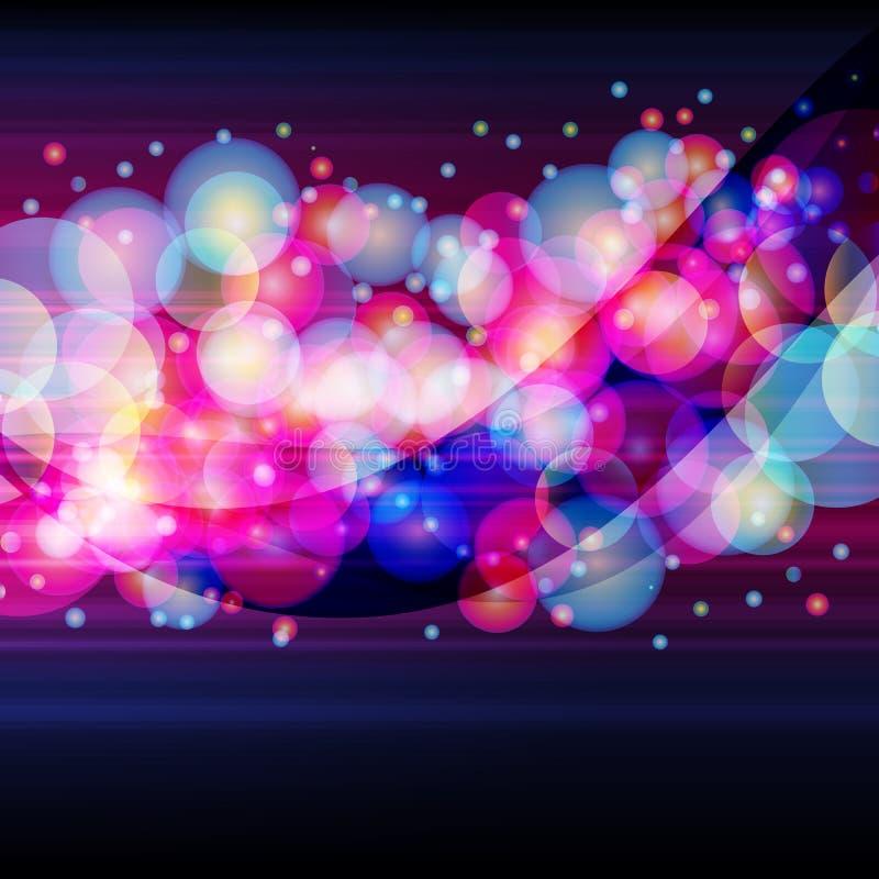 Download Listra Larga Feita Do Círculos Luminosos Ilustração do Vetor - Ilustração de sumário, disco: 16871052