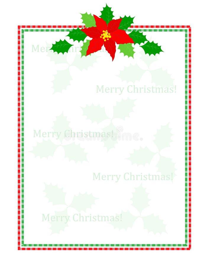 Listra o frame do Natal ilustração stock