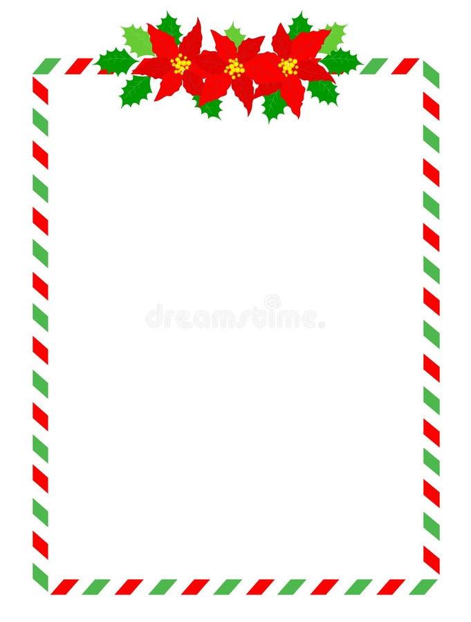 Listra o frame do Natal ilustração royalty free