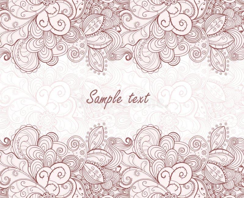 Listra sem emenda floral do teste padrão. ilustração royalty free