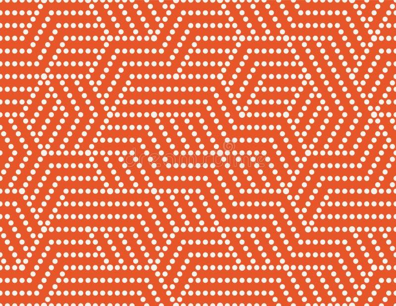 Listras abstratas dos pontos, linha teste padrão sem emenda Fundo colorido brilhante do negócio, cor branca alaranjada Criativo p ilustração royalty free