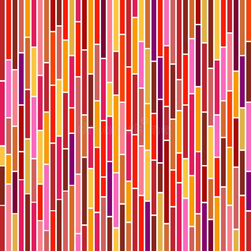 Listras abstratas em cores quentes ilustração royalty free