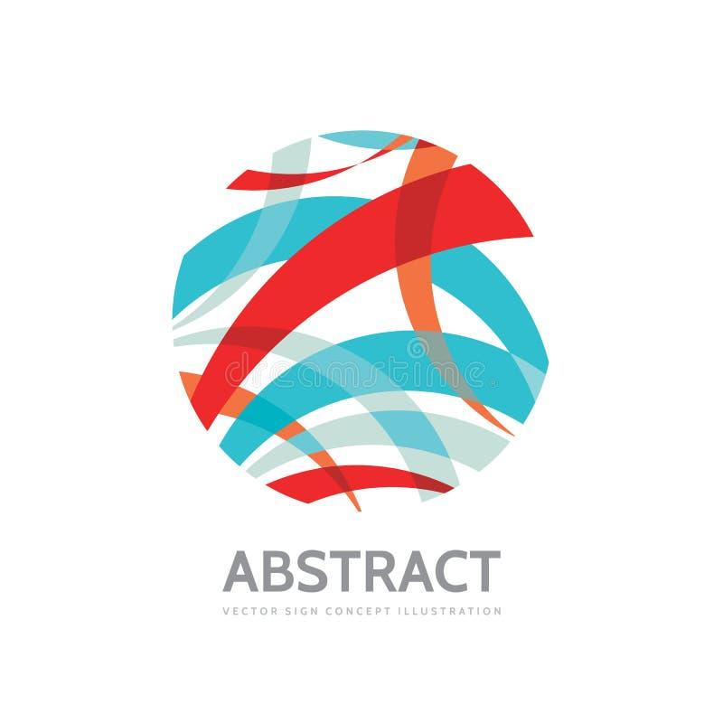 Listras abstratas no círculo - vector a ilustração do conceito do molde do logotipo Sinal moderno da tecnologia Símbolo criativo  ilustração stock
