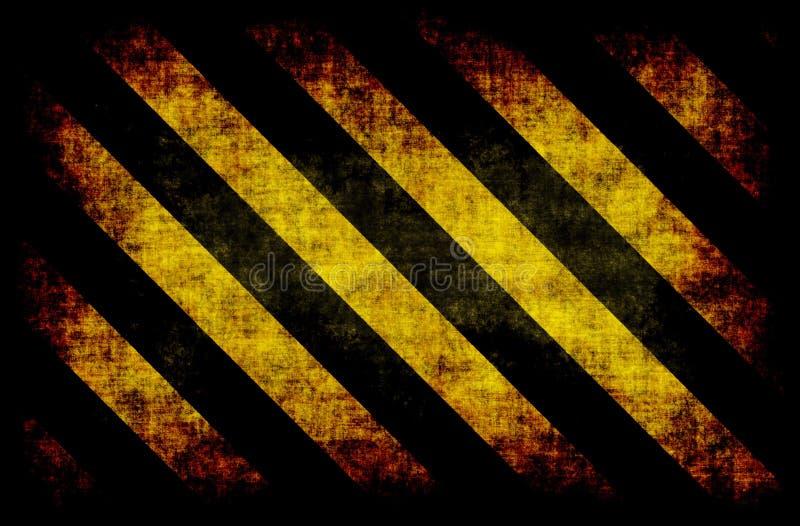 Listras amarelas pretas do perigo ilustração stock