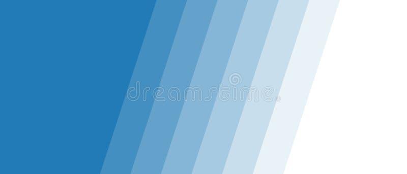Listras azuis com transição da cor ilustração stock