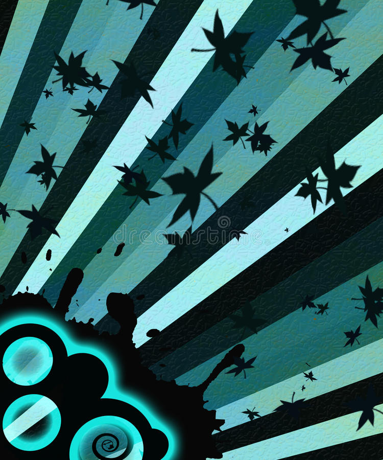 Listras azuis da música ilustração stock