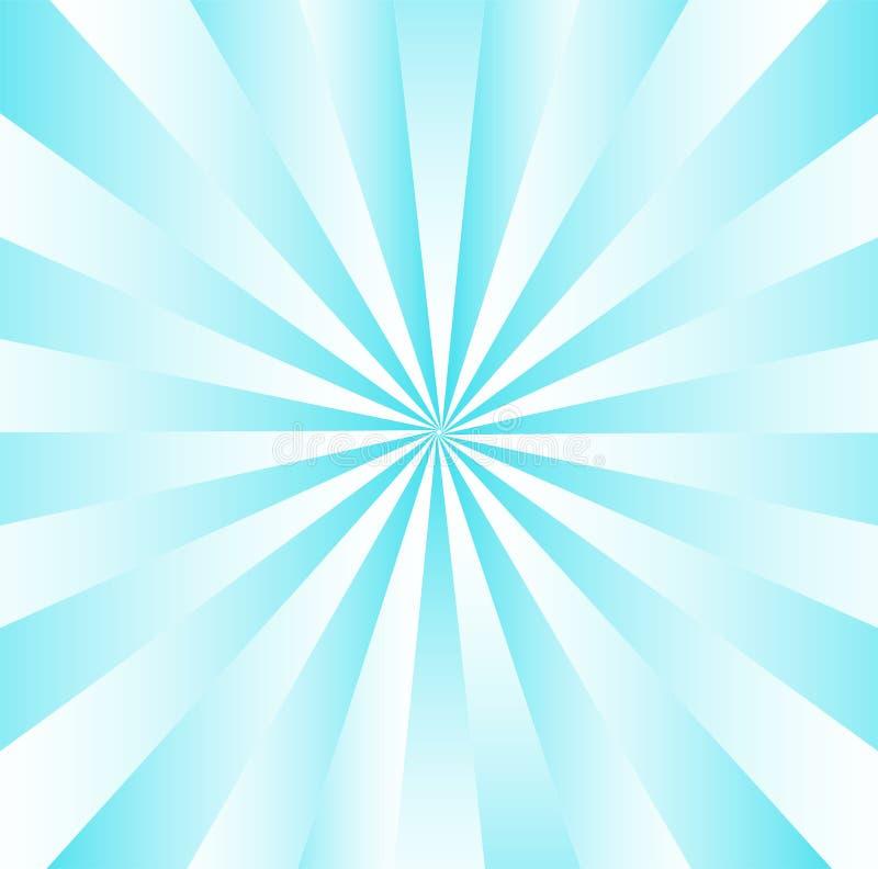 Listras azuis radiais de Gradated ilustração royalty free