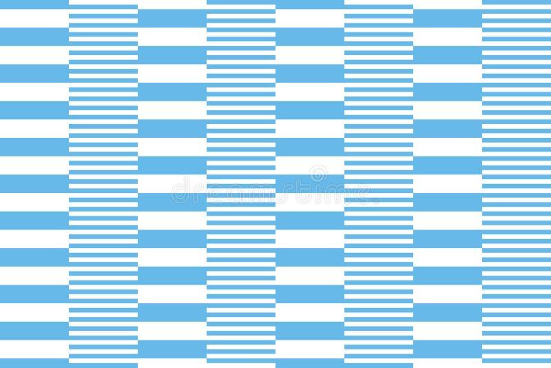 Listras brancas e azuis ilustração royalty free