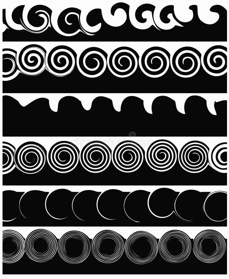 Listras brancas e pretas ilustração stock