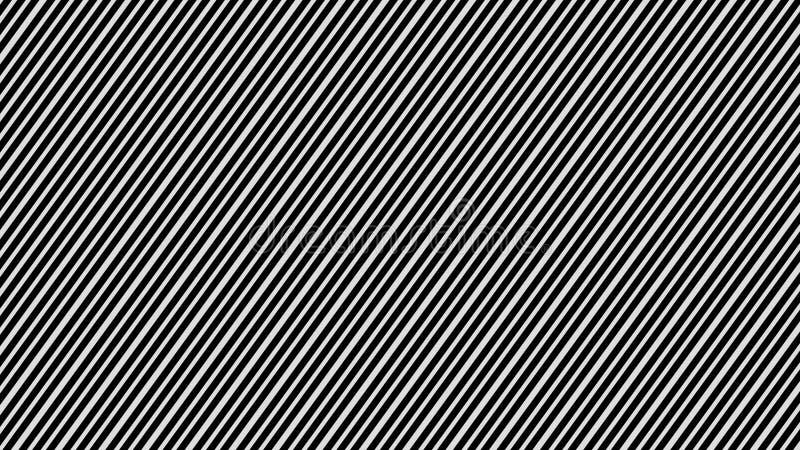 Listras brancas & linhas pretas testes padrões abstratos pretos escuros das raias ilustração do vetor
