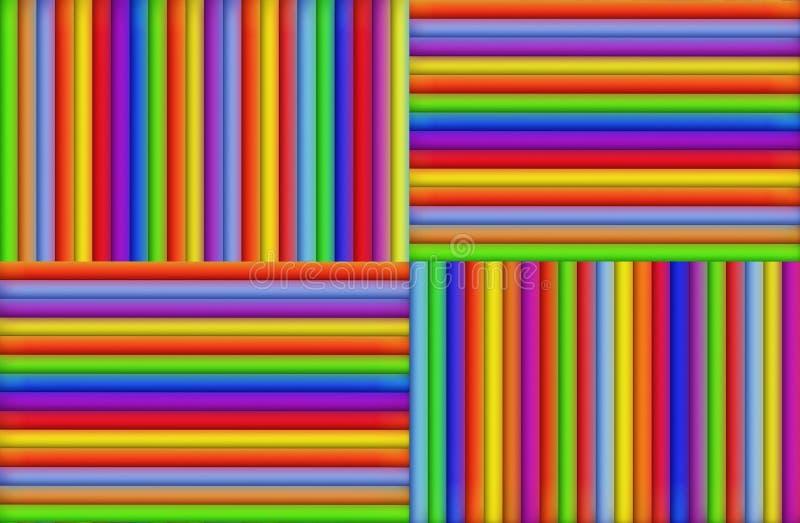 Listras coloridas ilustração stock