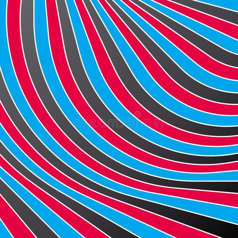 Listras coloridas abstratas. Vetor. ilustração stock