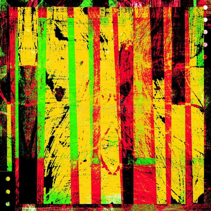 Listras coloridas do projeto gráfico do grunge ilustração do vetor