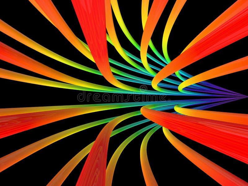 Listras coloridas no fundo preto imagem de stock
