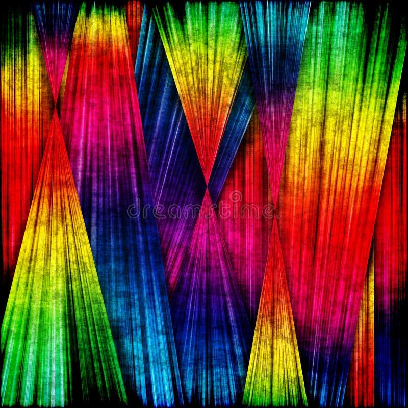 Listras coloridas sujas ilustração do vetor