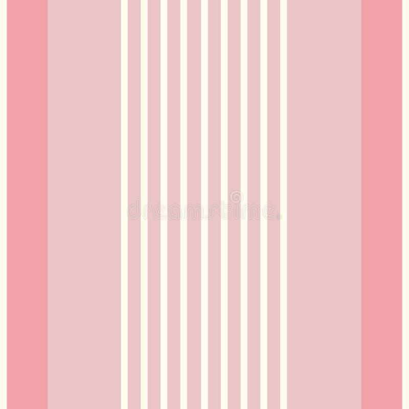 Listras contemporâneas do tecido para camisas do multiwidth Teste padrão vertical sem emenda do vetor Aperfeiçoe para artigos de  ilustração royalty free