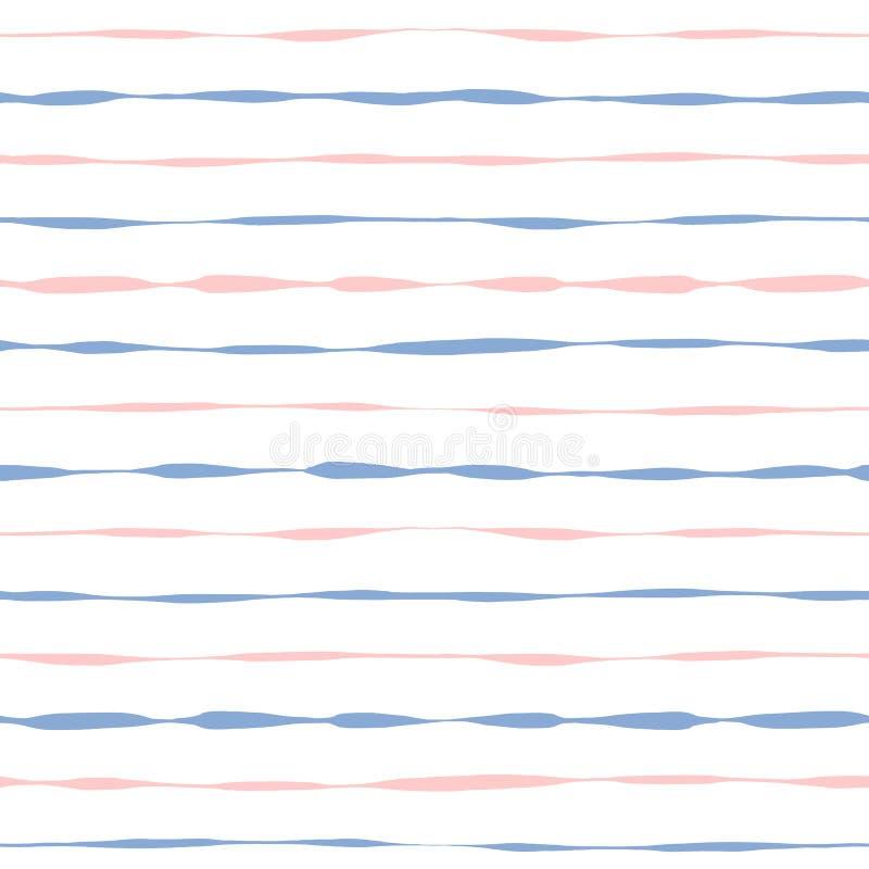 Listras cor-de-rosa e azuis do grunge sem emenda do fundo ilustração do vetor