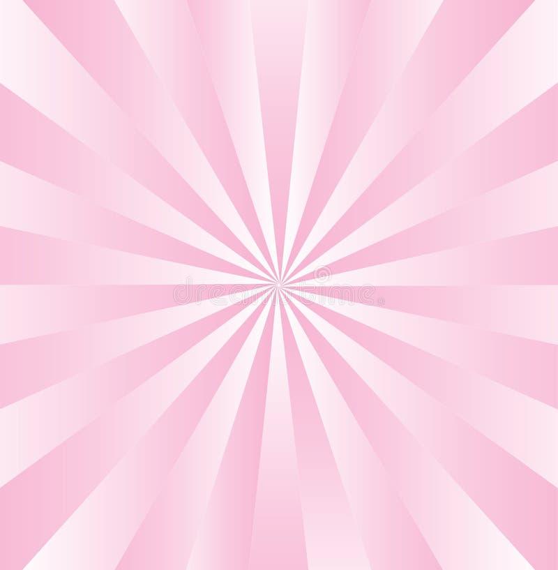 Listras cor-de-rosa radiais de Gradated ilustração do vetor