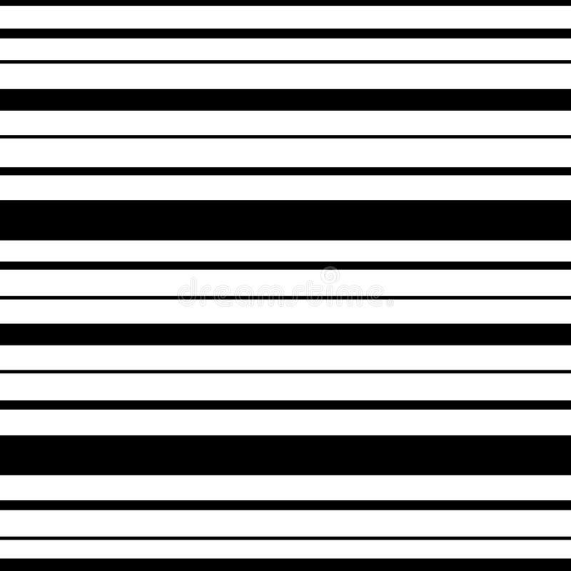 Listras da cor preta de larguras diferentes em um fundo branco ilustração do vetor