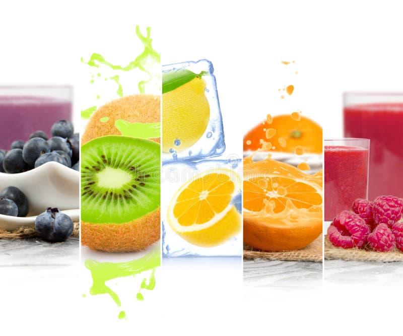 Listras da mistura do fruto imagens de stock