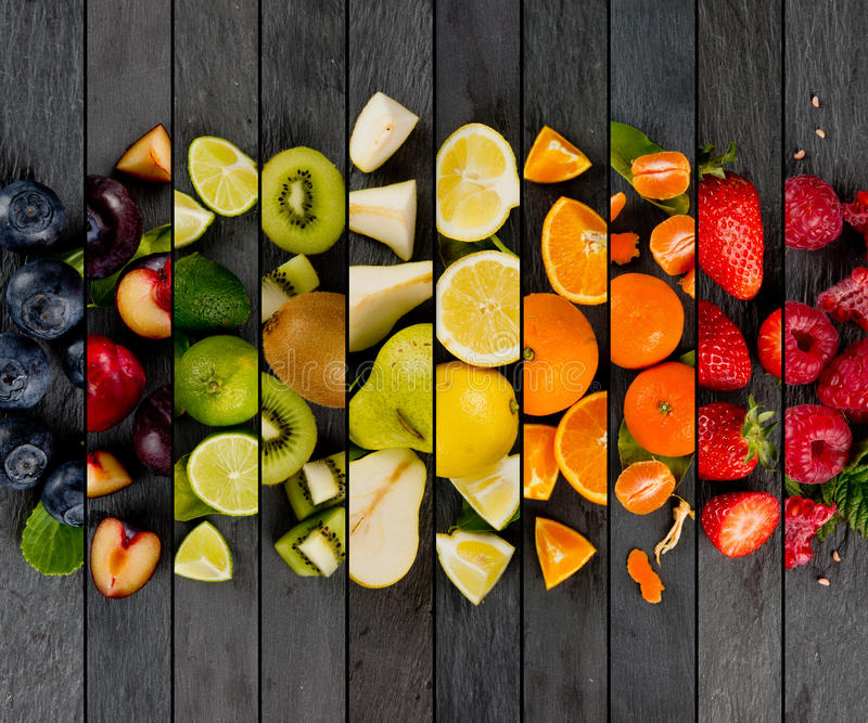 Listras da mistura do fruto imagem de stock