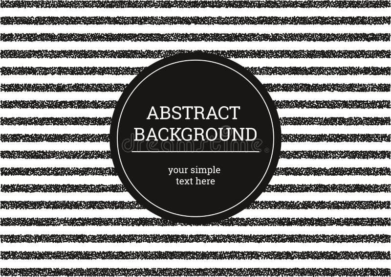 Listras de Grunge Fundo moderno minimalistic preto e branco de pontos pequenos Molde abstrato do vetor para seu projeto ilustração royalty free