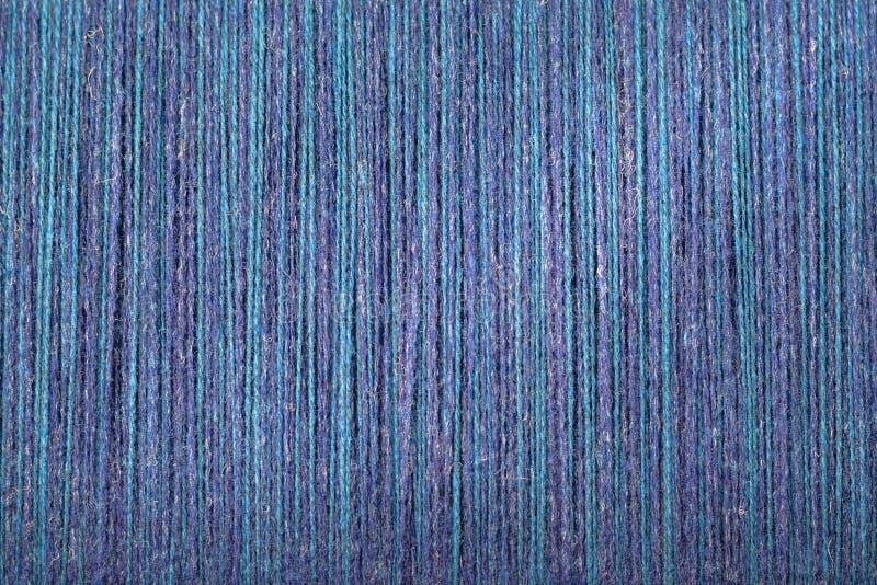 Listras de tecelagem do verde azul de lãs imagens de stock royalty free