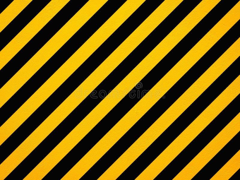 Listras diagonais amarelas e pretas do perigo ilustração do vetor