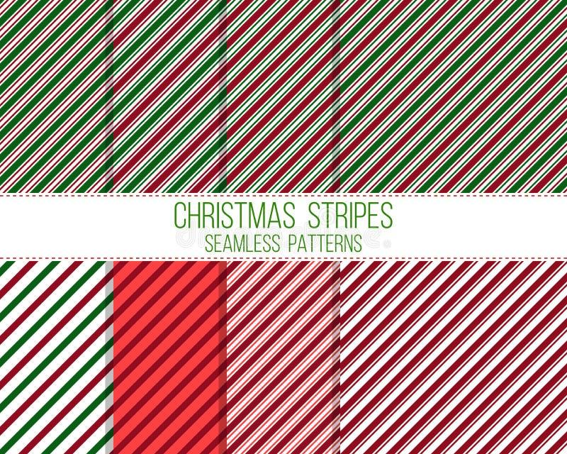Listras do Natal, testes padrões sem emenda ilustração do vetor