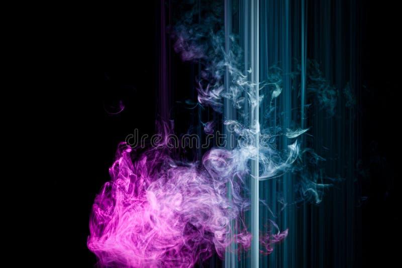 Listras e fumo de néon ilustração stock