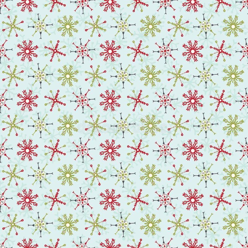 Listras festivas do floco de neve do feriado e do Natal sem emenda ilustração stock