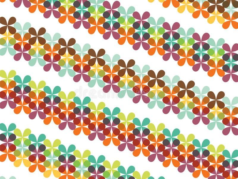 Listras florais da borboleta retro ilustração stock