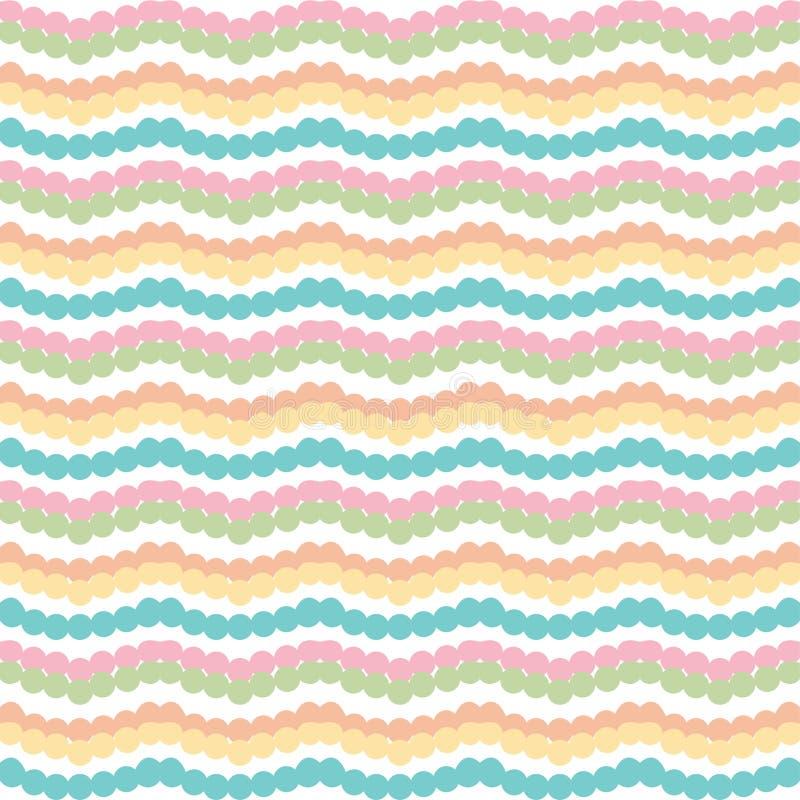 Listras horizontais coloridas do ziguezague de Chevron no fundo branco ilustração royalty free