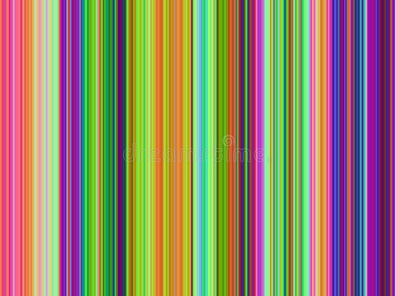 Listras Multicolor da arte Op ilustração stock