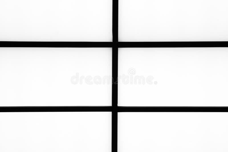 Listras pretas geométricas abstratas em um fundo branco brilhante, m fotos de stock