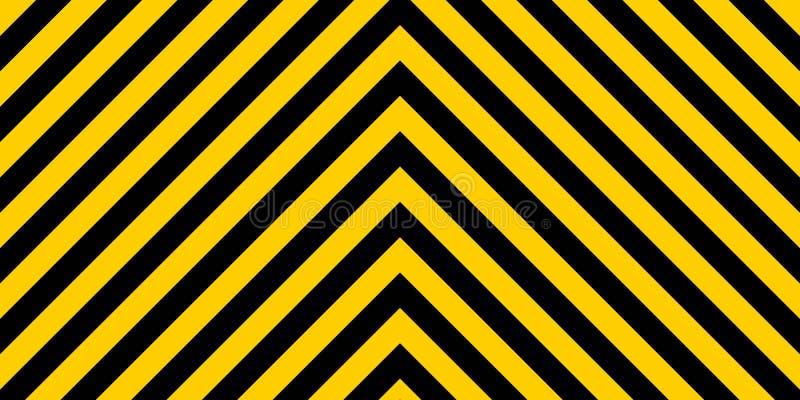 Listras retangulares listradas de advertência do fundo, as amarelas e as pretas na diagonal em sentidos diferentes, um aviso a se ilustração royalty free