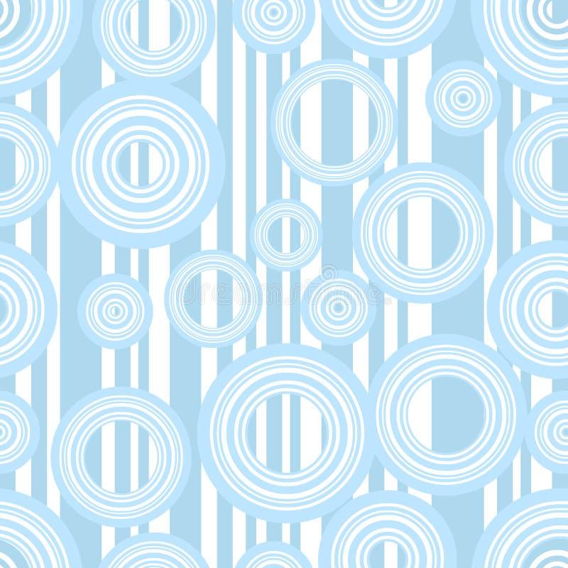 Listras retros e círculos ilustração royalty free
