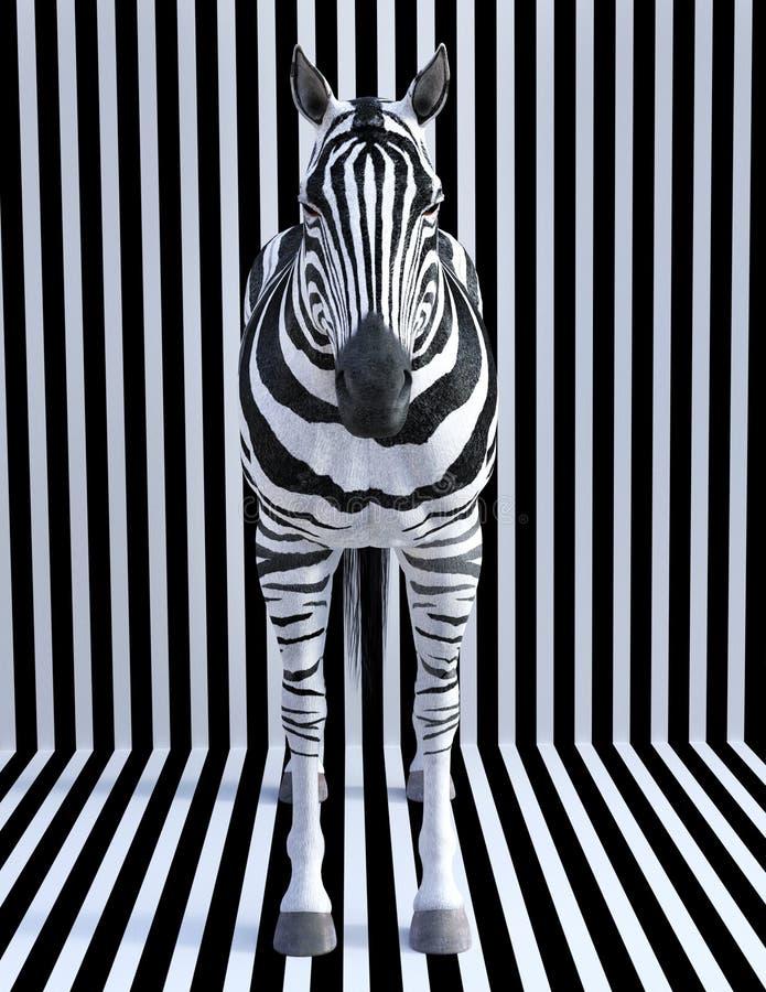 Listras surreais da zebra, animal dos animais selvagens, natureza fotos de stock royalty free