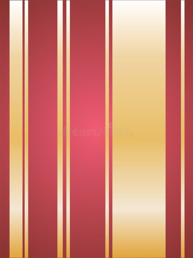 Listras vermelhas e douradas ilustração royalty free