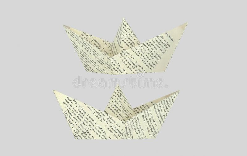 Listu papieru boatt 3d illustrationWhite papieru łódź ilustracja wektor