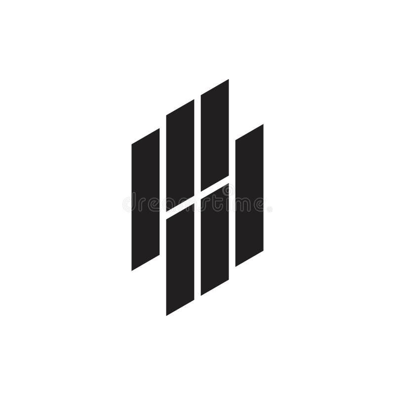 Listu pd paskuje geometrycznego kreskowego logo wektor ilustracji