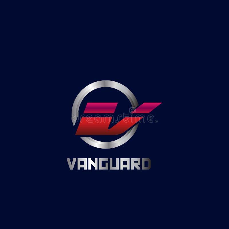 Listu V logo Nowożytnego projekta wektor royalty ilustracja