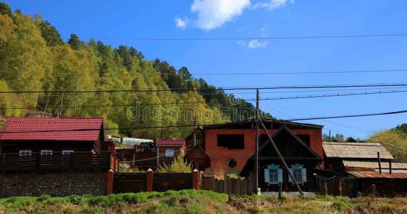 Listvianka Regelung, See Baikal, Russland. lizenzfreies stockfoto