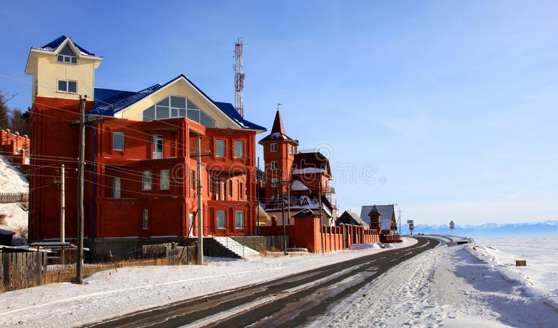 Listvianka Regelung. See Baikal. Winter. stockfoto