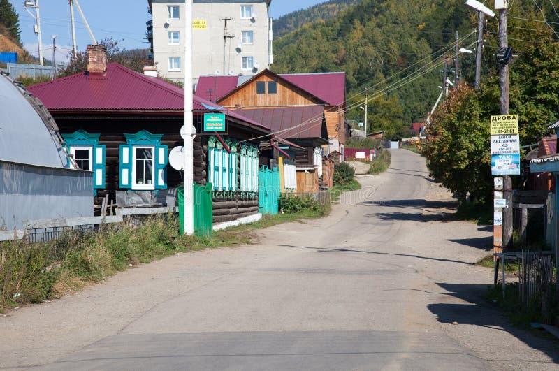Listvyankaregeling Irkoetsk Oblast, Rusland stock foto's