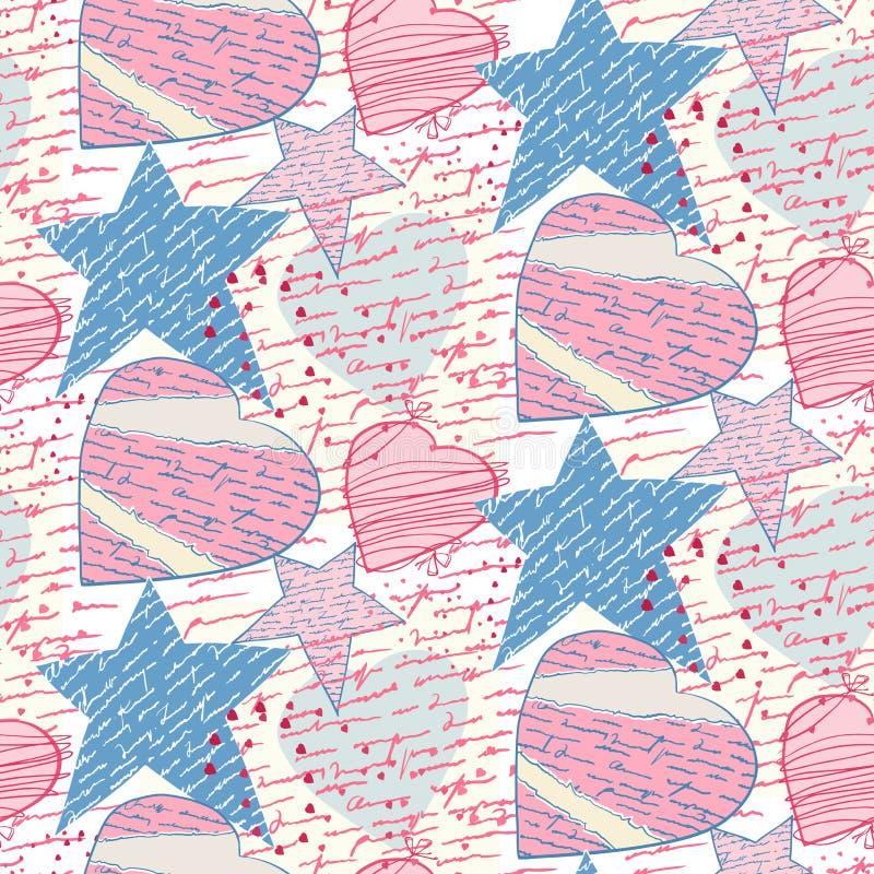 listy kochają bezszwowego ilustracji